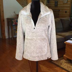 LLBean Fleece pullover with 3/4 zipper
